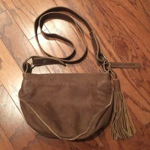 Linea Pelle Collection Brown Crossbody Tassel